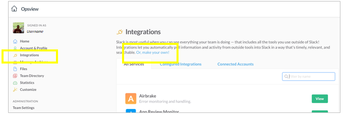 Add Slack as an Integration