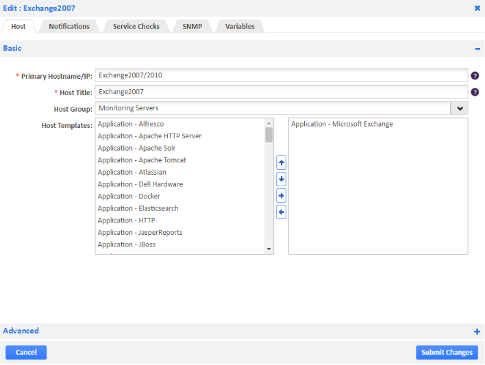 Microsoft exchange monitoring opsview step 1 add the host template yadclub Gallery