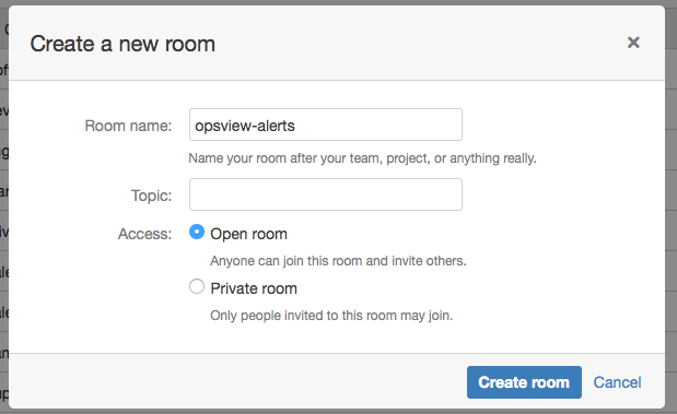 HipChat integration in Opsview