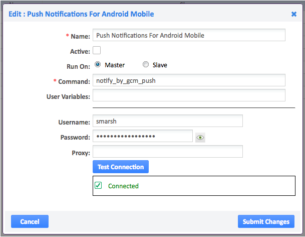 Push notifications for android mobile