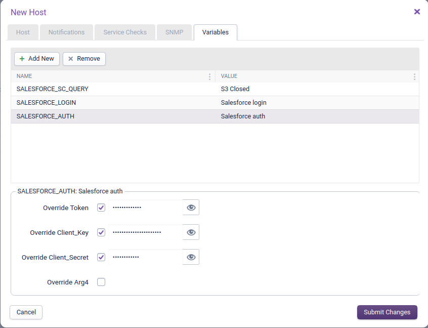 Salesforce Service Cloud Add Variables Step 1