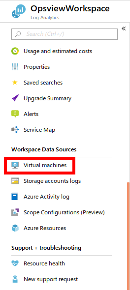 Azure Log Analytics Virtual Machines
