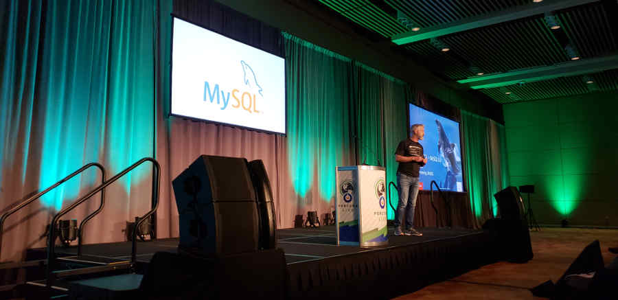 Tomas Ulin, Oracle VP Development for MySQL, at Percona Live 2018