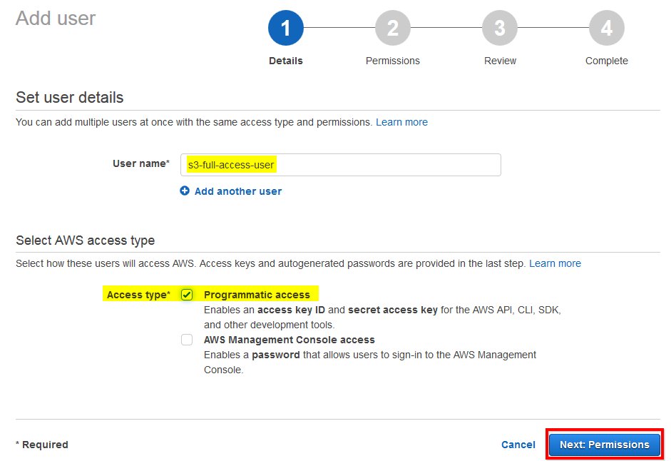 AWS RDS Check Programmatic Access