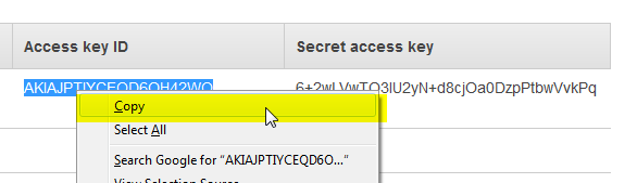 AWS RDS Access Key