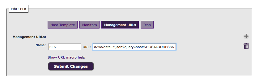 Create management URL