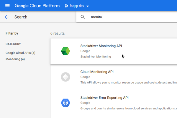 GCP Select Stackdriver