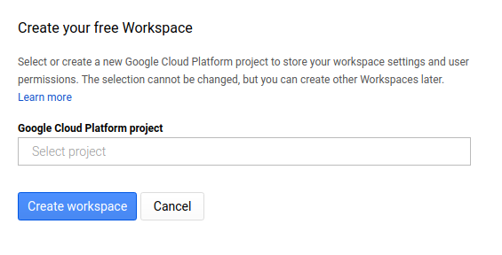 GCP Stack Choose Project