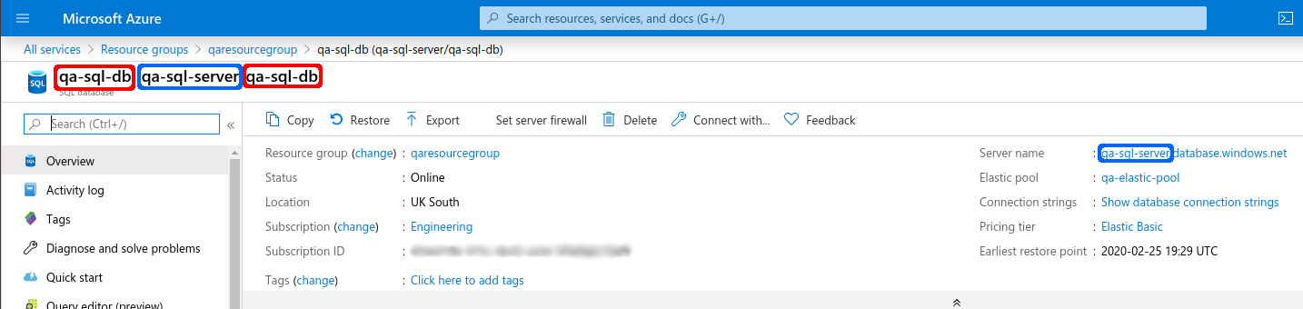 Variable Azure Resource Details